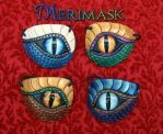 More Leather Dragon Eye Patches... by merimask