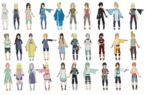 Large Naruto Clan Adoptables by zombie-adoptables