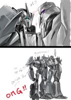 Megatron and Megatronus by evilwinnie