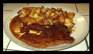 Schnitzel with..... by Snowflaky
