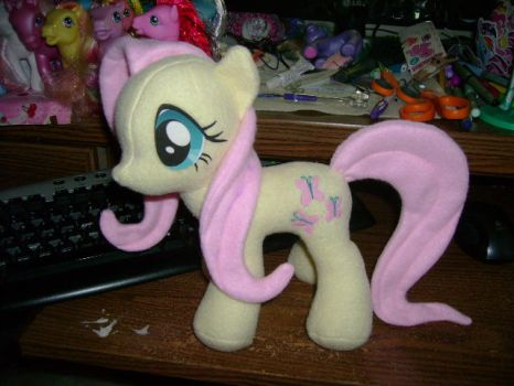 In Progress Fluttershy Plushie by ShyraWolf