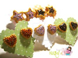 Halloween Jelly Tart Earrings by colourful-blossom