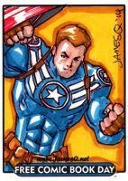 Captain America Sketch Card by jamesq