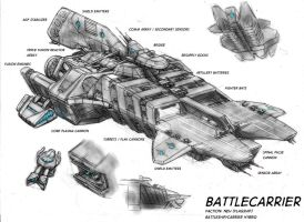 Battlecarrier concept 2 by s0lar1x