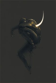 Melancolia. Haunted thoughts. The moon had a name by hypnothalamus