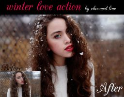 Winter Love Action by chococat-line