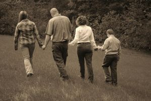 Walking Away As a Family... by Pi-ray