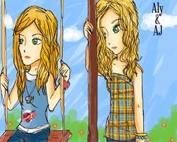 Aly and AJ by Weehe
