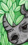 Rhino - leaves by lonesomeaesthetic