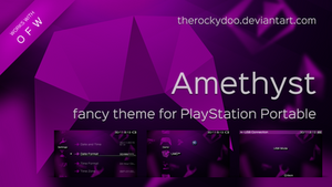 Amethyst - fancy PSP theme by TheRockyDoo