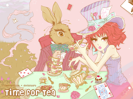 -: Ms. Hatter's Tea Party: Time For Tea:- by Cherry-Fizzle