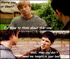 Well, then think about that one - Merthur by FreakyFangirl97