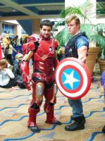 The Avengers - Tony Stark and Capt. Steve Rogers by ravenqueen22