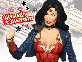 All New Wonder Woman 600 Custom Action Figure by Chalana87