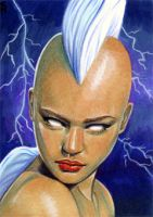 Mohawk Storm Sketch Card 1 by veripwolf