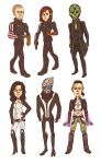 Mass Effect Stickers by PotatoCrisp