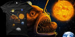 comsimc angler fish t-shit by biotwist