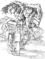 Grimlock vs Trypticon by TGping