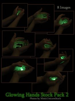 Glowing Hands Stock Pack 2 by MisticUnicornStock