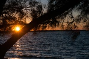 Sunset Over Sanibel by Mimek