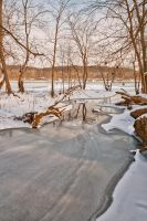 Great Falls Winter Stream (freebie) by somadjinn