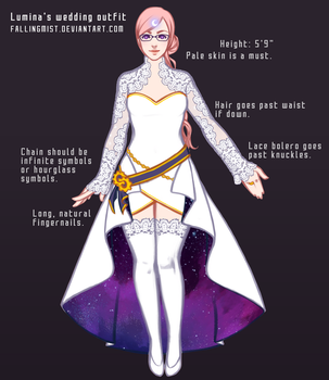 Lumina's wedding outfit by FallingMist