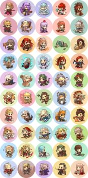 Fire Emblem Fates buttons by hasuyawn