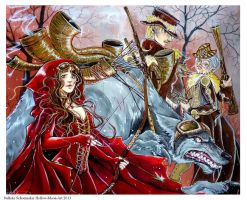 Red riding hood - To hunt or to be hunted by Hollow-Moon-Art