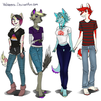 My Main OCs by Valkeera