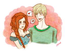 Scorpius x Rose by jujuseeed