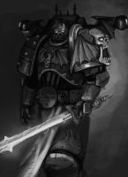 warhammer 40k sketch : Night Lords by FonteArt