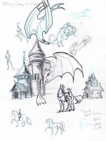 Sketchy doodles by lunatteo