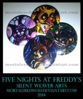 Five Night Pins by MortaleRedWolf