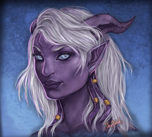 Naanae Draenei by SheiSketch