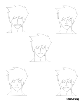 expressions for main character by Tennasity