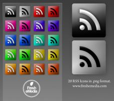 20 RSS Icons by freshemedia