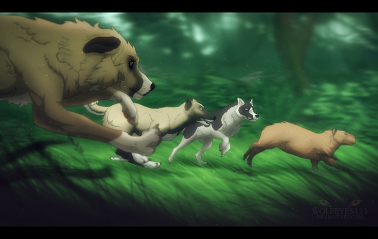 - In the heart of the forest - by Wolfeyes123
