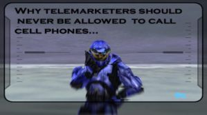 halo and telemarketers are dea by Sonic840