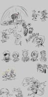 Civil War Sketches 1 by Tzelly-El