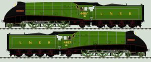 LNER A4 liveries - 4487 'Sea Eagle' by 2509-Silverlink