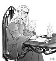 Writing time by MarineElphie