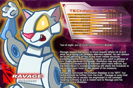 SG Ravage unofficial bio card by itswalky