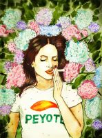 Hydrangea and Peyote of Ultraviolence by RobertRedART