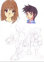 Trails in the Sky Sketchdump by DeadlyObsession