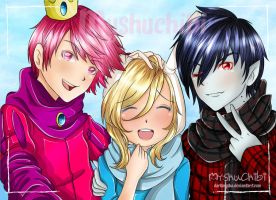 Fionna and the princes Sexys by DarkMysha