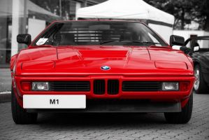 BMW M1, red, front by FurLined