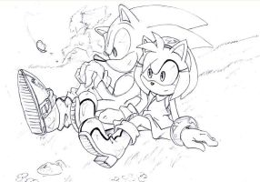 another sonamy sketch 2 by SMSSkullLeader