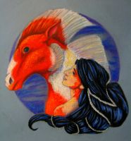 Mermaid and Her Steed by bowiegirl