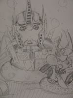 Optimus and Arcee with bubbles sketch:P by blondecomicartist
