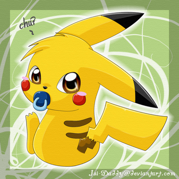 baby Pikachu 02 by Isi-Daddy